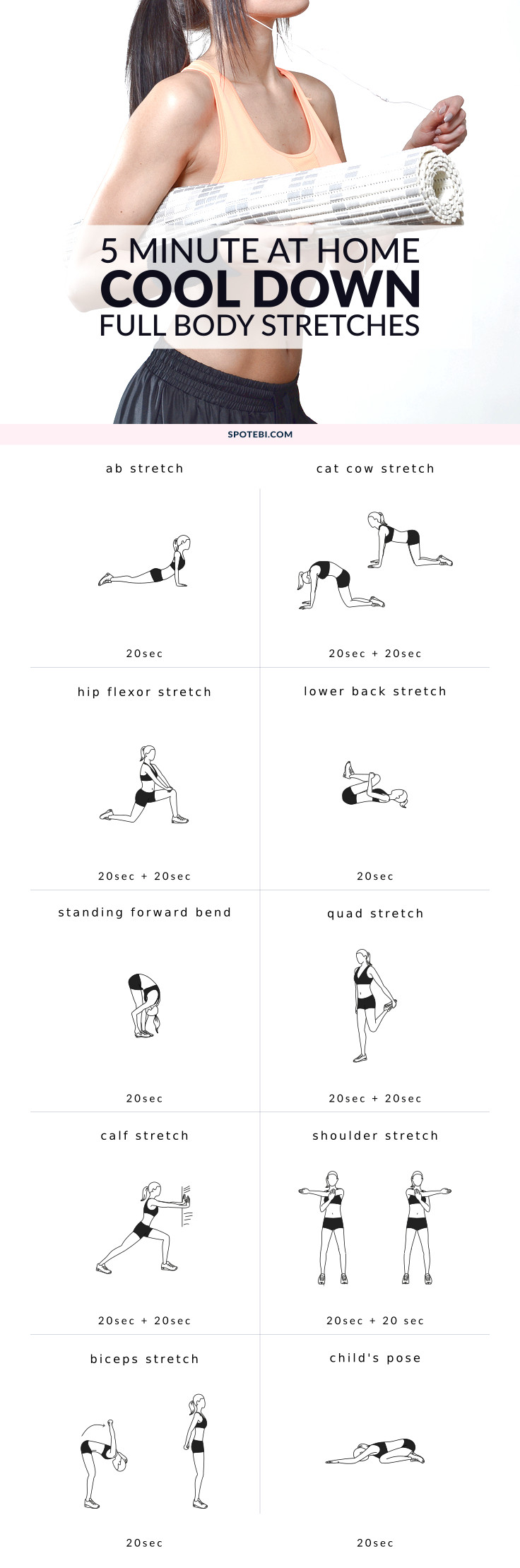 Stretch And Relax Your Entire Body With This 5 Minute Routine Cool Down Exercises To