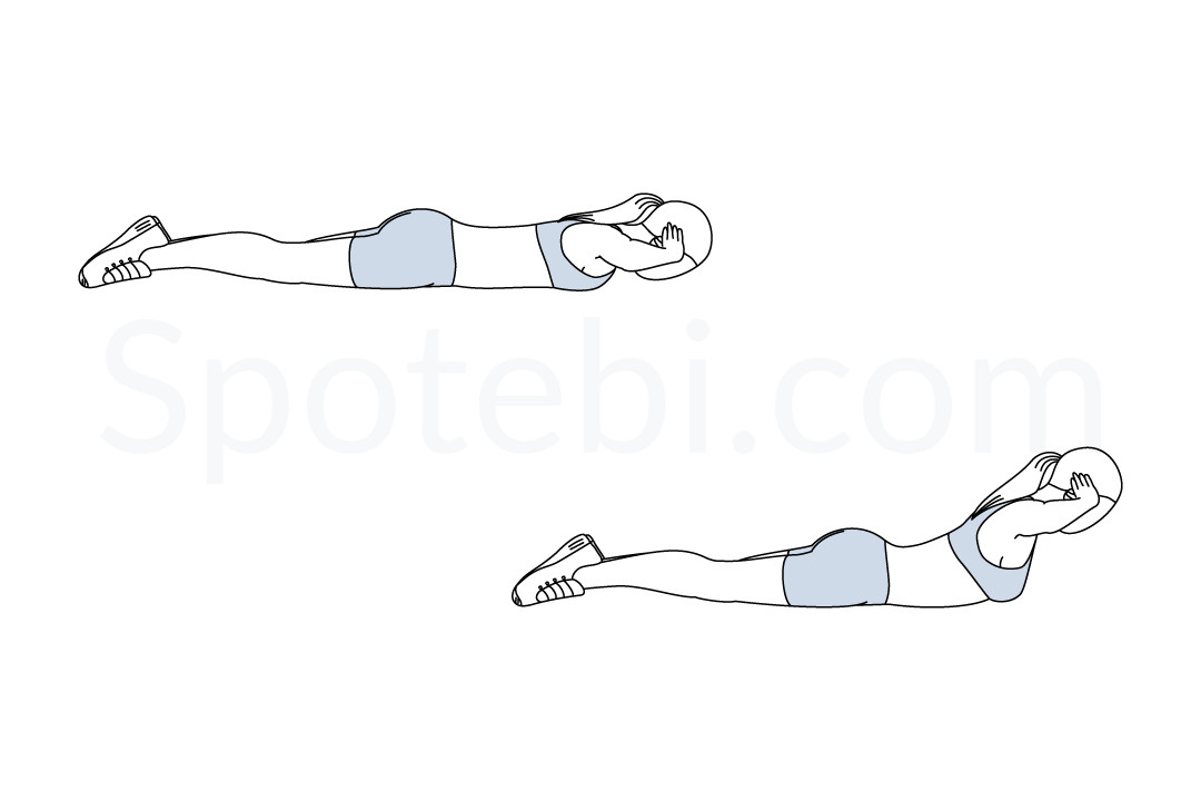 Back extensions exercise guide with instructions, demonstration, calories burned and muscles worked. Learn proper form, discover all health benefits and choose a workout. https://www.spotebi.com/exercise-guide/back-extensions/