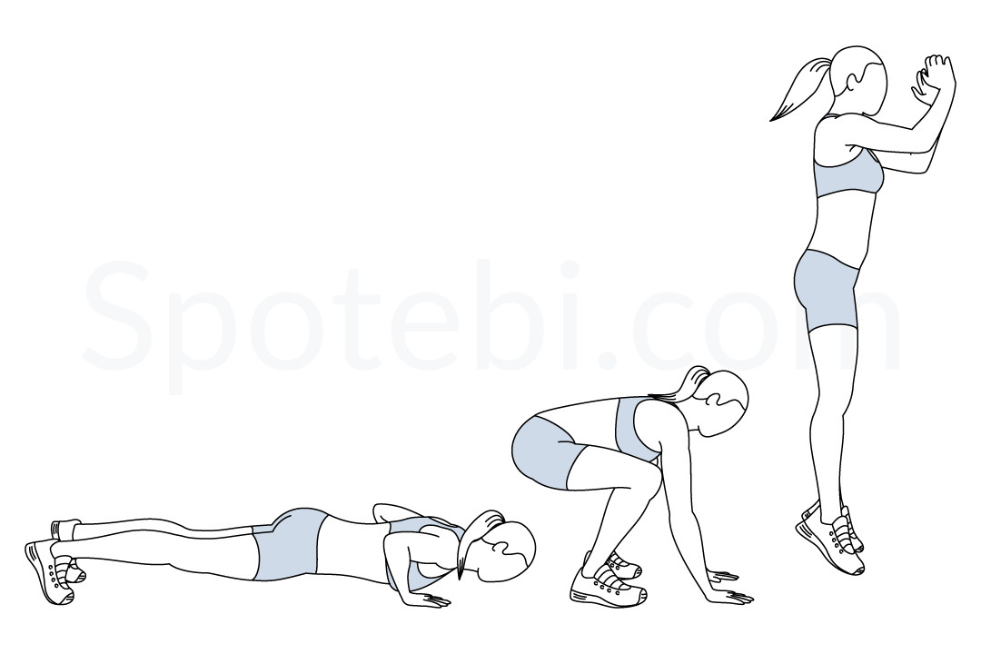 Burpees | Illustrated Exercise Guide