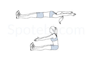 Roll up exercise guide with instructions, demonstration, calories burned and muscles worked. Learn proper form, discover all health benefits and choose a workout. https://www.spotebi.com/exercise-guide/roll-up/