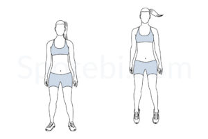 Ankle hops exercise guide with instructions, demonstration, calories burned and muscles worked. Learn proper form, discover all health benefits and choose a workout. https://www.spotebi.com/exercise-guide/ankle-hops/
