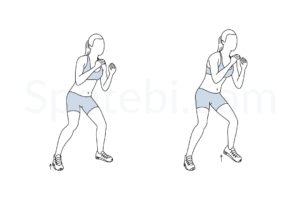 Quick feet exercise guide with instructions, demonstration, calories burned and muscles worked. Learn proper form, discover all health benefits and choose a workout. https://www.spotebi.com/exercise-guide/quick-feet/