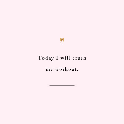 Crush it! Browse our collection of motivational fitness quotes and get instant exercise and training inspiration. Transform positive thoughts into positive actions and get fit, healthy and happy! https://www.spotebi.com/workout-motivation/motivational-fitness-quote-crush-it/
