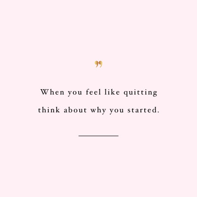 Don't quit! Browse our collection of inspirational fitness quotes and get instant exercise and workout motivation. Transform positive thoughts into positive actions and get fit, healthy and happy! https://www.spotebi.com/workout-motivation/fitness-quote-dont-quit/