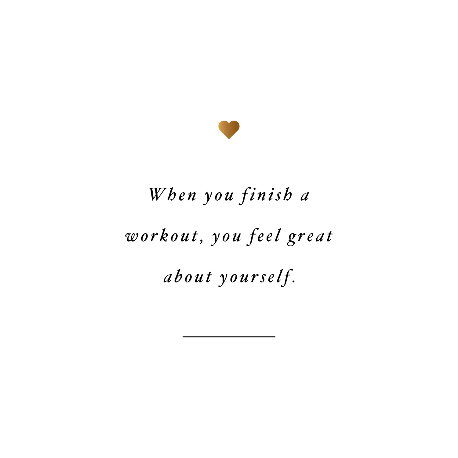 Feel great! Browse our collection of inspirational exercise quotes and get instant workout and fitness motivation. Transform positive thoughts into positive actions and get fit, healthy and happy! https://www.spotebi.com/workout-motivation/exercise-quote-feel-great/