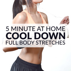 5 Minute Full Body Cool Down Exercises / @spotebi