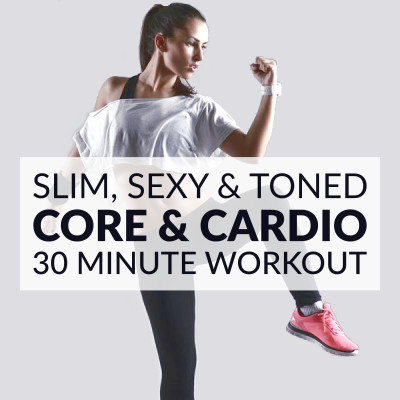 Work your abs, obliques and lower back with this core and cardio workout. Increase your aerobic fitness at home and get a toned, sculpted and slim belly. https://www.spotebi.com/workout-routines/bodyweight-at-home-core-and-cardio-workout/