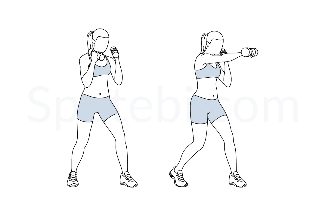 Dumbbell Punches | Illustrated Exercise Guide