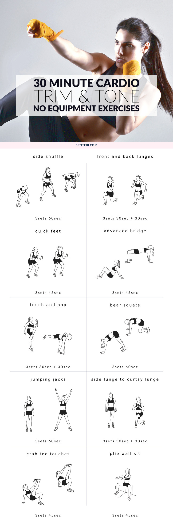 No Equipment Lower Body And Cardio Exercises