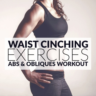 Work on your abs and obliques with these core exercises for women. A 30 minute waist cinching workout to activate your obliques and define your waistline! https://www.spotebi.com/workout-routines/core-exercises-for-women-abs-obliques-workout/