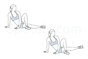 Inner thigh lifts exercise guide with instructions, demonstration, calories burned and muscles worked. Learn proper form, discover all health benefits and choose a workout. https://www.spotebi.com/exercise-guide/inner-thigh-lifts/