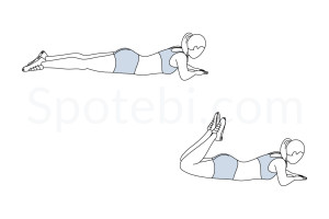 Lying hamstring curls exercise guide with instructions, demonstration, calories burned and muscles worked. Learn proper form, discover all health benefits and choose a workout. https://www.spotebi.com/exercise-guide/lying-hamstring-curls/