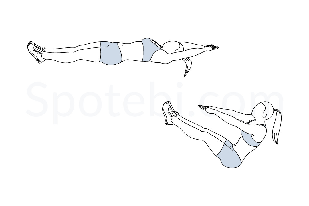 V Ups | Illustrated Exercise Guide