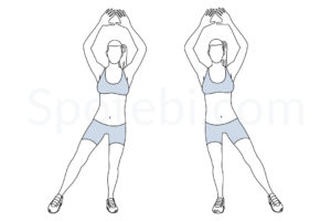 Modified jumping jacks exercise guide with instructions, demonstration, calories burned and muscles worked. Learn proper form, discover all health benefits and choose a workout. https://www.spotebi.com/exercise-guide/modified-jumping-jacks/