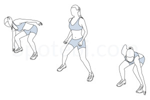 Side shuffle exercise guide with instructions, demonstration, calories burned and muscles worked. Learn proper form, discover all health benefits and choose a workout. https://www.spotebi.com/exercise-guide/side-shuffle/
