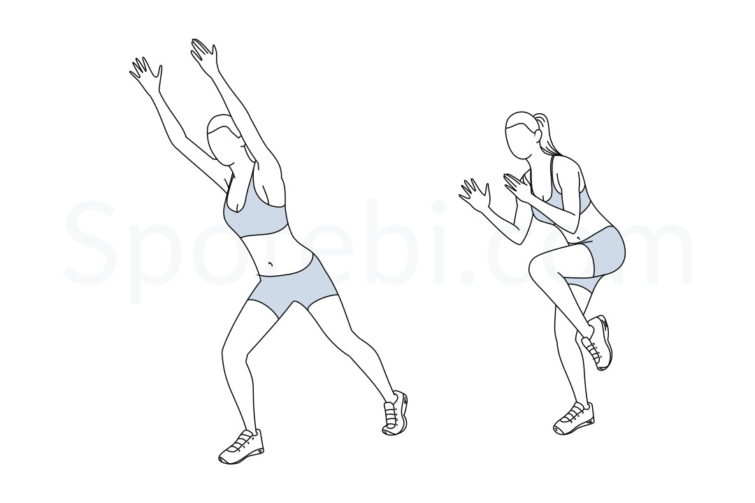 Stutter steps exercise guide with instructions, demonstration, calories burned and muscles worked. Learn proper form, discover all health benefits and choose a workout. https://www.spotebi.com/exercise-guide/stutter-steps/