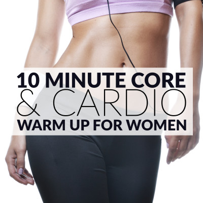 Warming up before a workout helps to activate your central nervous system and to maximize your performance. The improvement in blood and oxygen circulation and the increase in body temperature helps to prepare the muscles for more strenuous activities. https://www.spotebi.com/workout-routines/10-minute-core-cardio-warm-up/