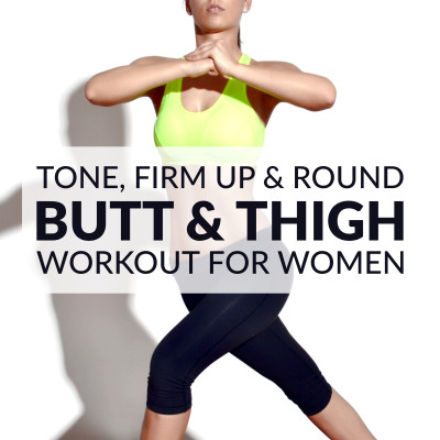 Tone, firm and round your lower body with this butt and thigh workout for women. 10 exercises that will thoroughly engage your glutes and thighs for an effective burnout style routine! https://www.spotebi.com/workout-routines/butt-thigh-workout-women/