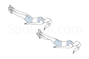 Scissor kicks exercise guide with instructions, demonstration, calories burned and muscles worked. Learn proper form, discover all health benefits and choose a workout. https://www.spotebi.com/exercise-guide/scissor-kicks/