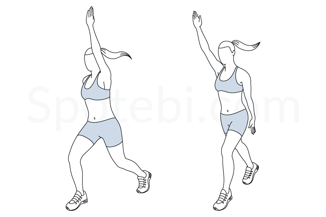 Scissor skier exercise guide with instructions, demonstration, calories burned and muscles worked. Learn proper form, discover all health benefits and choose a workout. https://www.spotebi.com/exercise-guide/scissor-skier/