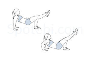 Single leg tricep dips exercise guide with instructions, demonstration, calories burned and muscles worked. Learn proper form, discover all health benefits and choose a workout. https://www.spotebi.com/exercise-guide/single-leg-tricep-dips/