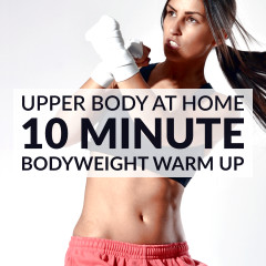 Upper Body Dynamic Warm Up Exercises / @spotebi