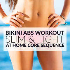 At Home Bikini Abs Workout / @spotebi