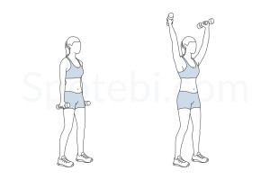 Standing Y raise exercise guide with instructions, demonstration, calories burned and muscles worked. Learn proper form, discover all health benefits and choose a workout. https://www.spotebi.com/exercise-guide/standing-y-raise/