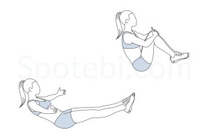 Knee hugs exercise guide with instructions, demonstration, calories burned and muscles worked. Learn proper form, discover all health benefits and choose a workout. https://www.spotebi.com/exercise-guide/knee-hugs/