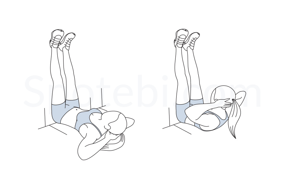 Wall crunch exercise guide with instructions, demonstration, calories burned and muscles worked. Learn proper form, discover all health benefits and choose a workout. https://www.spotebi.com/exercise-guide/wall-crunch/