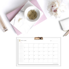 Monthly Planner Template / @spotebi
