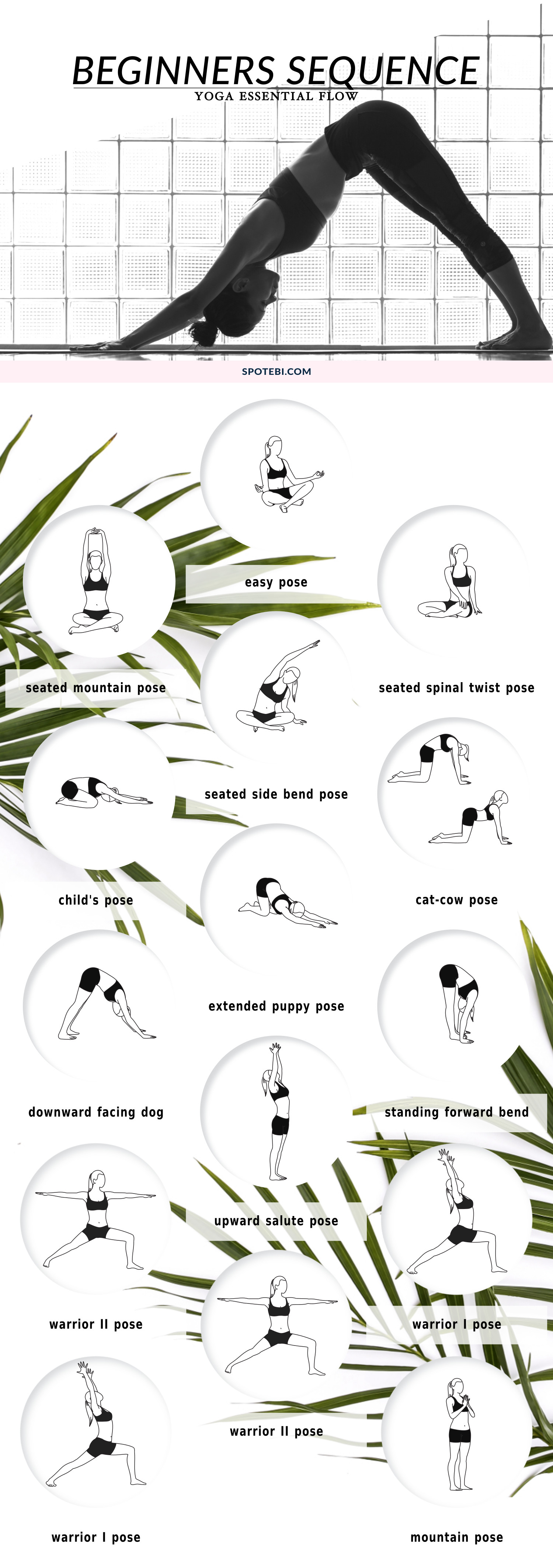 Are you new to yoga? This beginners yoga sequence is perfect if you're looking to achieve more flexibility and get in touch with your spiritual side. Stretch your body, practice mindfulness and let go of emotional baggage. https://www.spotebi.com/yoga-sequences/10-minute-beginners-yoga/