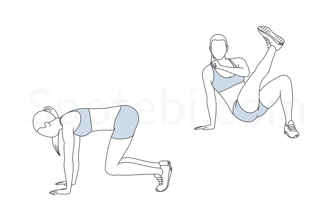 Breakdancer kick exercise guide with instructions, demonstration, calories burned and muscles worked. Learn proper form, discover all health benefits and choose a workout. https://www.spotebi.com/exercise-guide/breakdancer-kick/