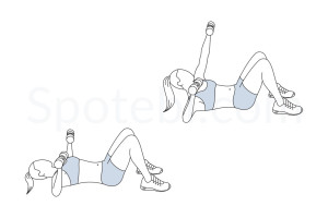 Chest press punch up exercise guide with instructions, demonstration, calories burned and muscles worked. Learn proper form, discover all health benefits and choose a workout. https://www.spotebi.com/exercise-guide/chest-press-punch-up/