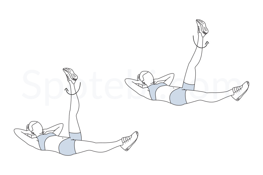 Circles in the sky exercise guide with instructions, demonstration, calories burned and muscles worked. Learn proper form, discover all health benefits and choose a workout. https://www.spotebi.com/exercise-guide/circles-in-the-sky/
