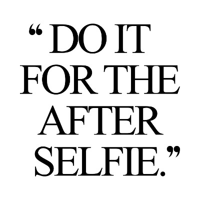 Do It For The After Selfie Inspirational Health And Fitness Quote / @spotebi