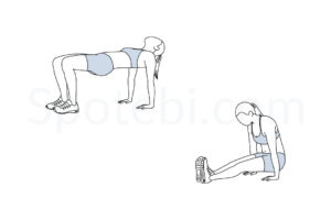 Tabletop reverse pike exercise guide with instructions, demonstration, calories burned and muscles worked. Learn proper form, discover all health benefits and choose a workout. https://www.spotebi.com/exercise-guide/tabletop-reverse-pike/