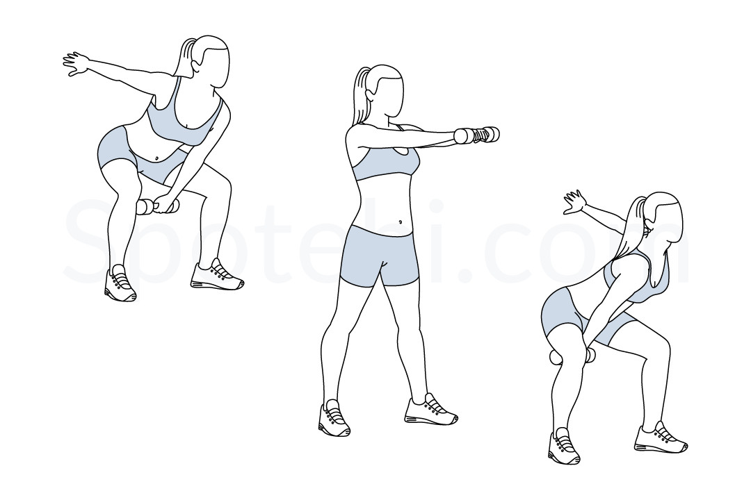 Alternating Dumbbell Swing | Illustrated Exercise Guide