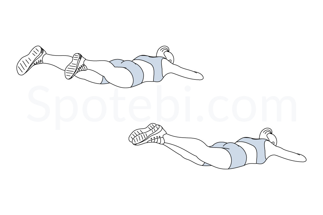 Heel beats exercise guide with instructions, demonstration, calories burned and muscles worked. Learn proper form, discover all health benefits and choose a workout. https://www.spotebi.com/exercise-guide/heel-beats/