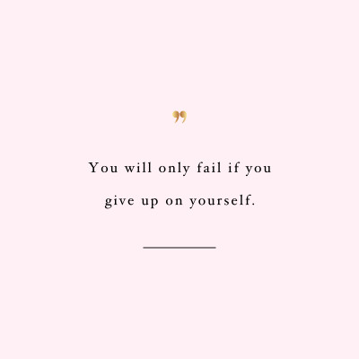 Don't Fail | Exercise And Weight Loss Quote / @spotebi