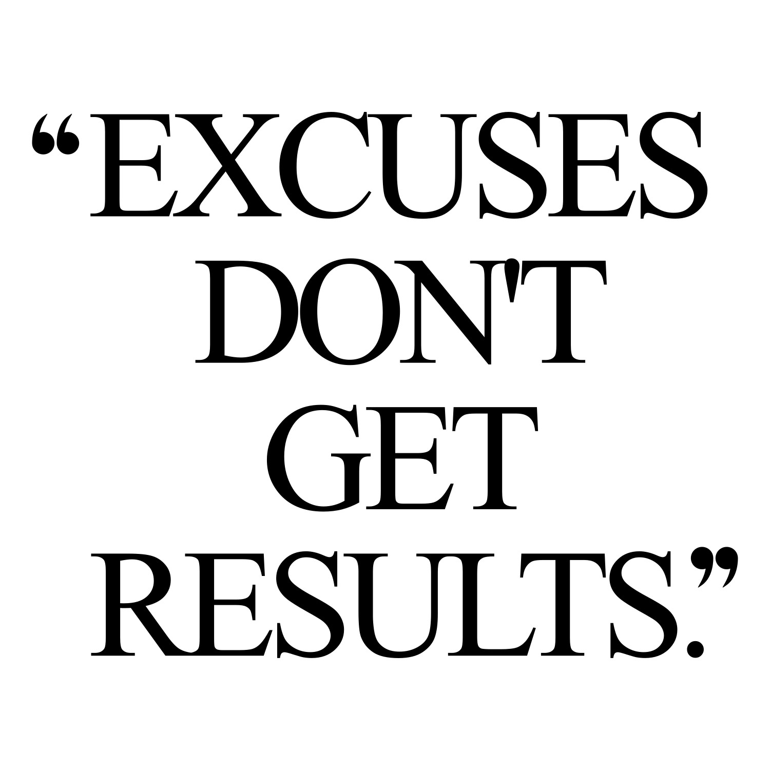 Excuses don't get results! Browse our collection of motivational exercise and weight loss quotes and get instant health and fitness inspiration. Transform positive thoughts into positive actions and get fit, healthy and happy! https://www.spotebi.com/workout-motivation/excuses-dont-get-results-exercise-and-weight-loss-motivational-quote/