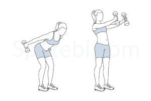 Dumbbell skier swing exercise guide with instructions, demonstration, calories burned and muscles worked. Learn proper form, discover all health benefits and choose a workout. https://www.spotebi.com/exercise-guide/dumbbell-skier-swing/
