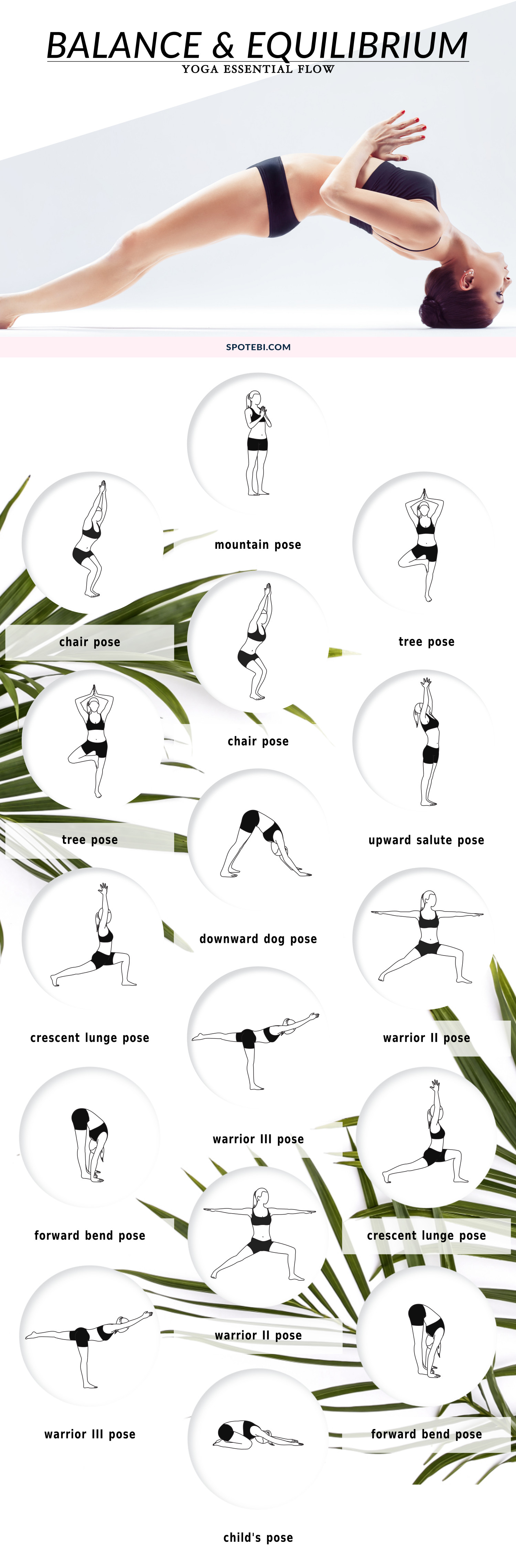 Boost balance and equilibrium, and reduce your risk of fall and injury with this 8-minute yoga flow. Repeat this sequence 2 or 3 times a week to improve muscle tone, flexibility, and reduce stress and anxiety. https://www.spotebi.com/yoga-sequences/balance-equilibrium/