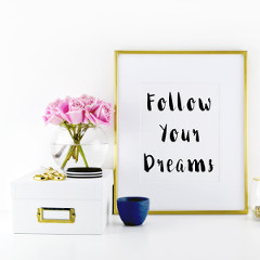 Follow Your Dreams Motivational Print / @spotebi