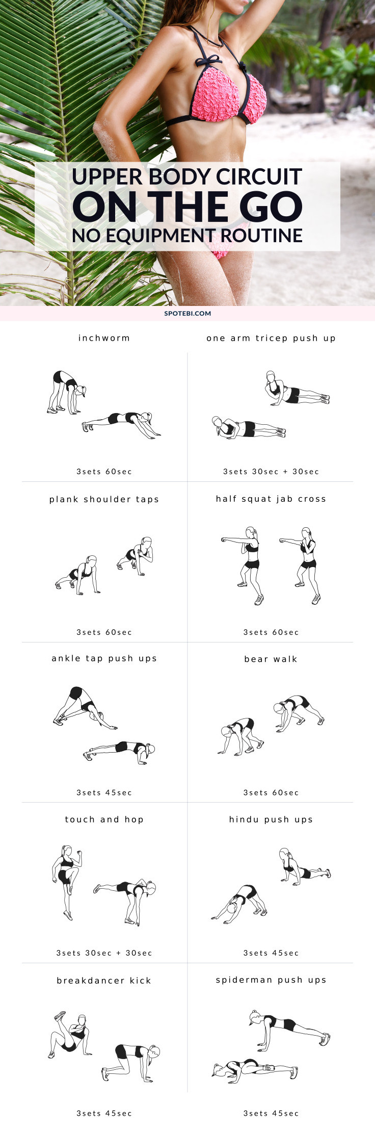 UPPER BODY BODYWEIGHT EXERCISES FOR WOMEN Sculpt Your Back Chest Shoulders And Arms Boost Weight Loss With