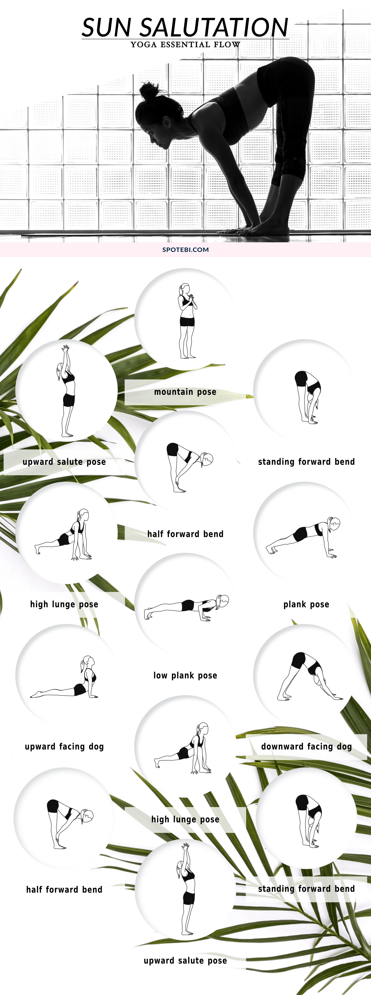 Invigorate the body and elevate the mind with this sun salutation sequence. Coordinate the breath with each posture, and start every morning with this yoga essential flow to feel energized and ready to take on the day! https://www.spotebi.com/yoga-sequences/sun-salutation-flow/
