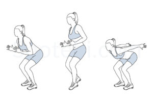 Forward jump shuffle back exercise guide with instructions, demonstration, calories burned and muscles worked. Learn proper form, discover all health benefits and choose a workout. https://www.spotebi.com/exercise-guide/forward-jump-shuffle-back/