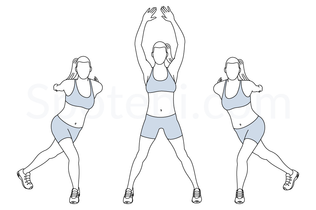 Lateral step pull exercise guide with instructions, demonstration, calories burned and muscles worked. Learn proper form, discover all health benefits and choose a workout. https://www.spotebi.com/exercise-guide/lateral-step-pull/