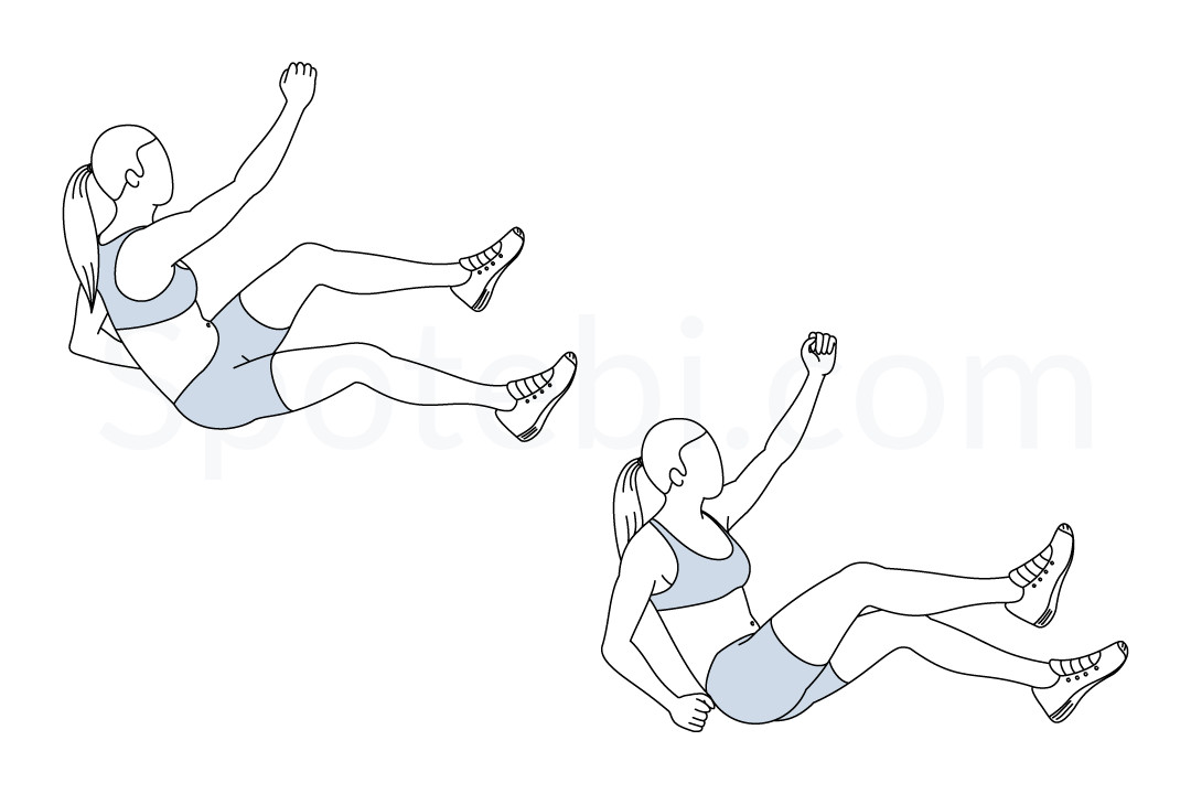 rope climb crunches illustrated exercise guide