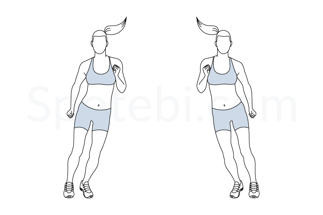 Side to side hops exercise guide with instructions, demonstration, calories burned and muscles worked. Learn proper form, discover all health benefits and choose a workout. https://www.spotebi.com/exercise-guide/side-to-side-hops/